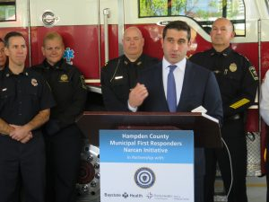 Hampden DA, Baystate Health, Trinity Health & CHD team up to supply Narcan to Hampden County police, firefighters